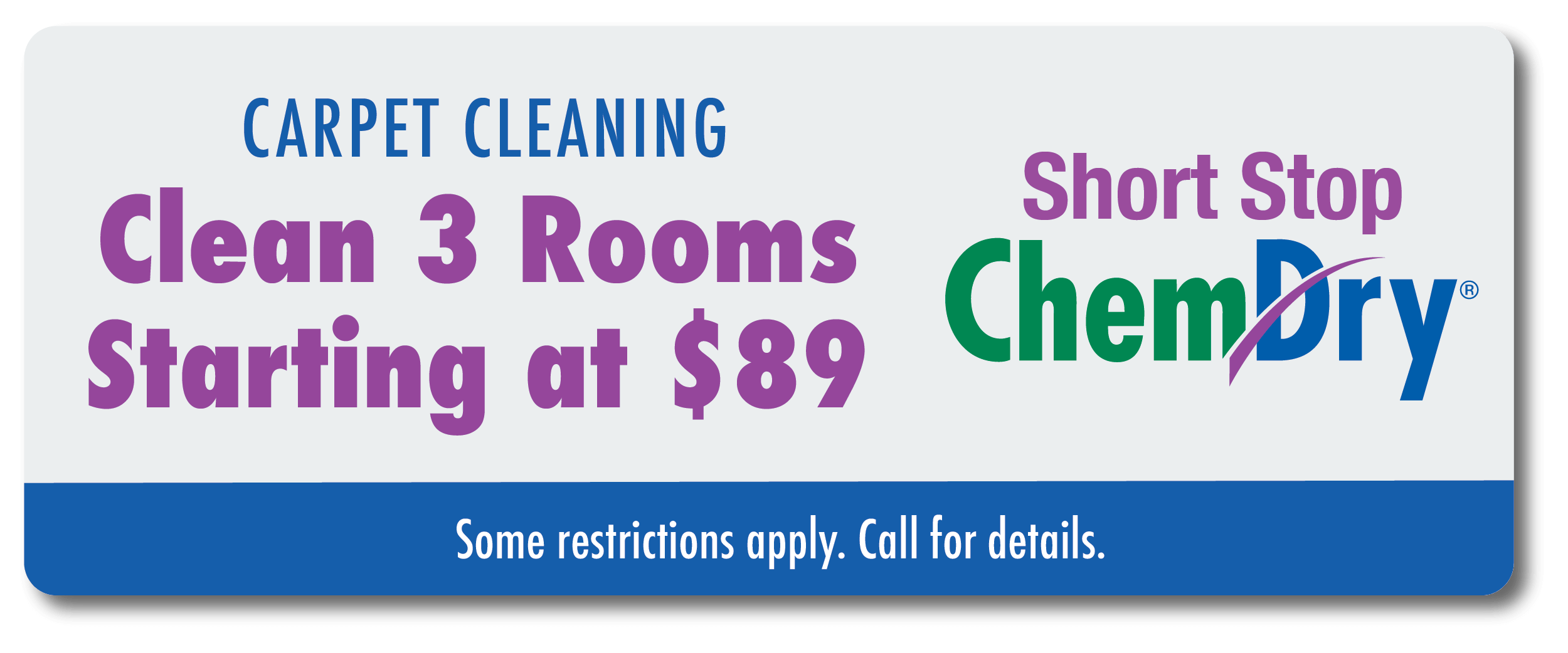 clean 3 rooms starting at $89 coupon