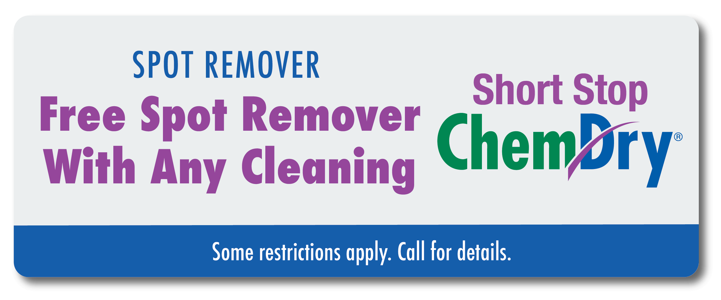 free spot remover with any cleaning coupon