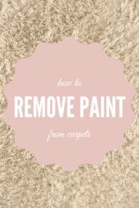 how to remove paint from carpets